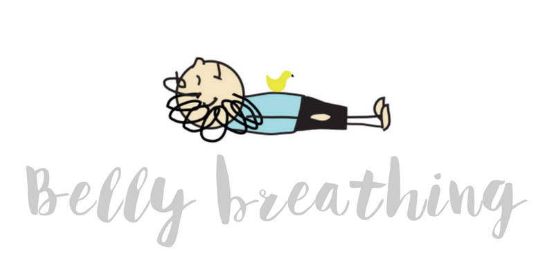 Using belly breathing to relieve anxiety
