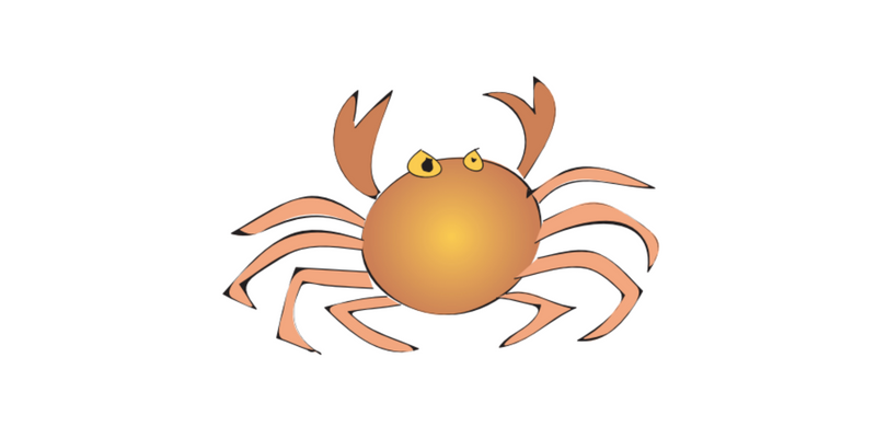 Crab pose blog header