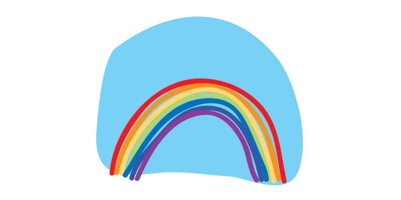 Rainbow Pose