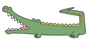 Crocodile pose blog header