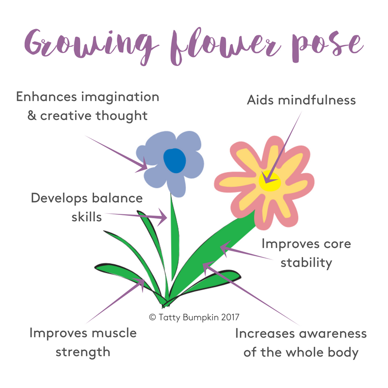 Growing flower pose benefits