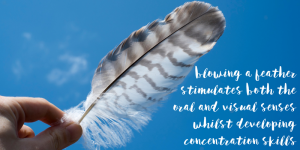feather - a yoga breath activity