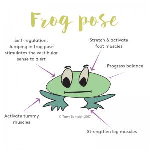 frog pose benefits  children inspiredyoga